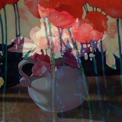 flowers w/pitcher