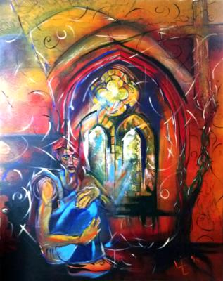 Lost Soul - Acrylic and Spraypaint on 152 x 120 cm Box Canvas