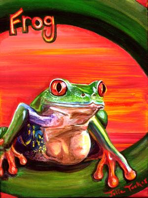 Frog in Red