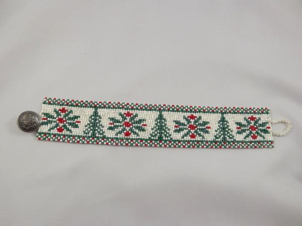 B-10 snowflakes & Christmas tree bracelet