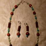 Glass pearls and wood