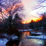 sunset along french river