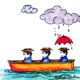THREE MEN IN A BOAT # 3: SCATTERED RAIN SHOWERS