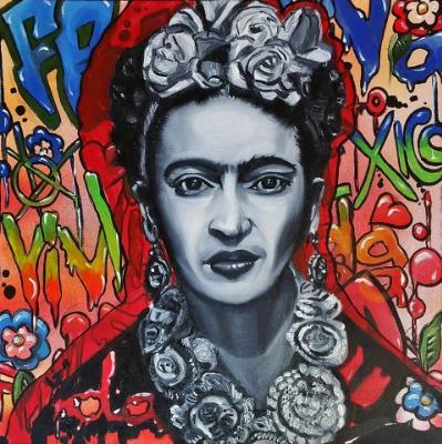 Graffiti Frida Painting 3 of 10 Fun Commissions