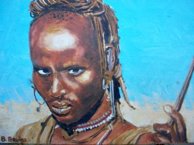 Young Turkana herdsman, Kenya