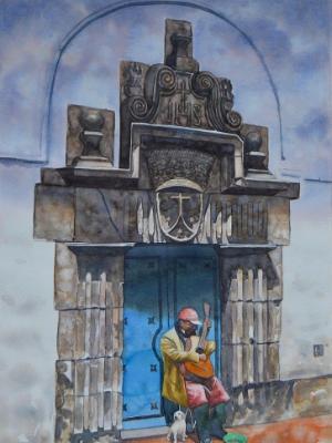 The street musician, 60cm x 40cm, 2016
