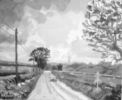 Rural road near Rose Ash, North Devon