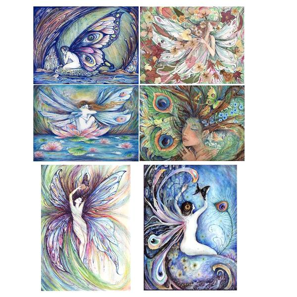 Fairy Note card set of 6 beautiful fairy pictures