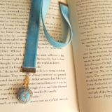 steampunk velvet bookmark czech glass