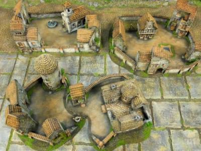 15mm Monastery ( buildings provided by customer- layout and painting by us)
