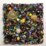 Untitled Beaded Square IV - Unframed