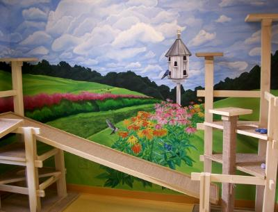 Mural Commission at The Farms Nathez Trace Cattery, Franklin, TN