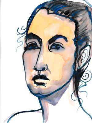 Nat, Watercolor Head