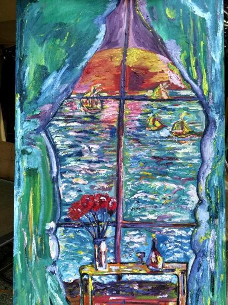 Lloyd Kraal oil painting