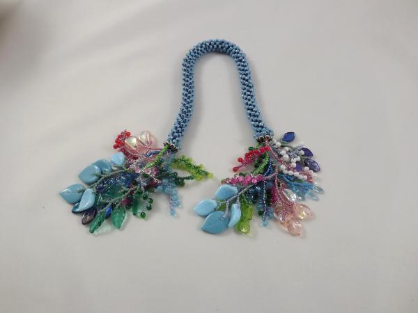 T-2 Light Blue AB Crocheted Tassel Rope