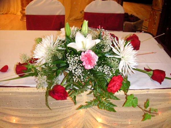 Wedding Head-Table Floral Arrangement