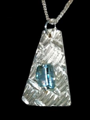 Sterling and Blue Topaz