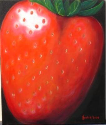 One large strawberry