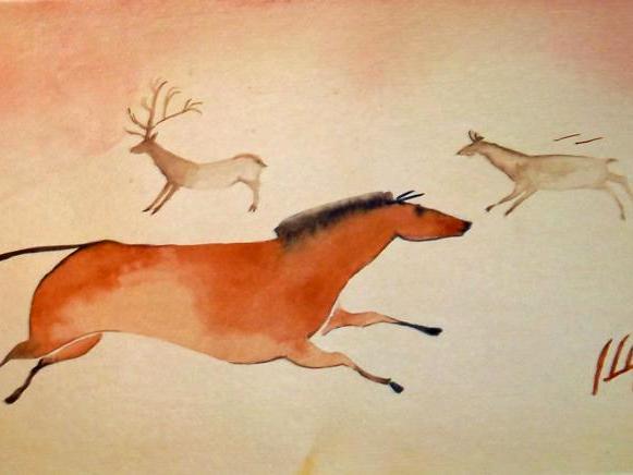Paleolithic Horse & Deer