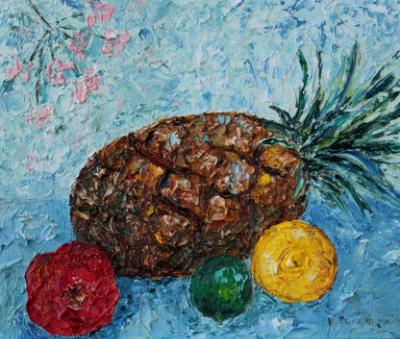 Pineapple with fruit