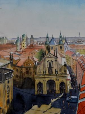 Everlasting Prague, 38cm x 28cm, 2020