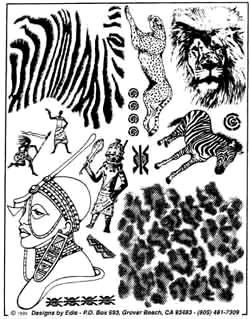 African Unmounted Rubber Stamps