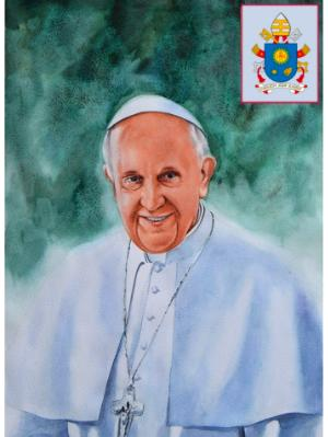 Portrait of Pope FRANCIS, 80cm x 60cm, 2015