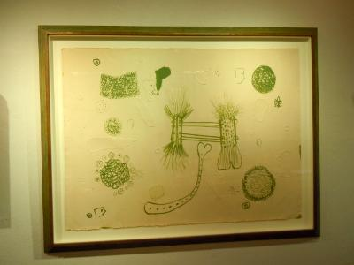 Roy De Forest embossed lithograph 1960's