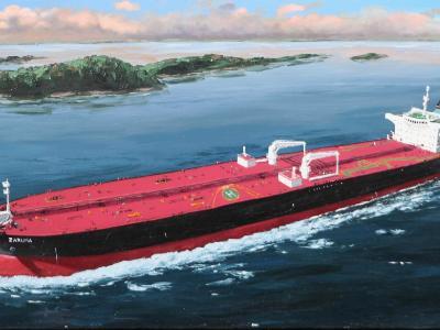 "Ecuadorian oil carrier ""Zaruma"", 120cm x 60cm, 2013"