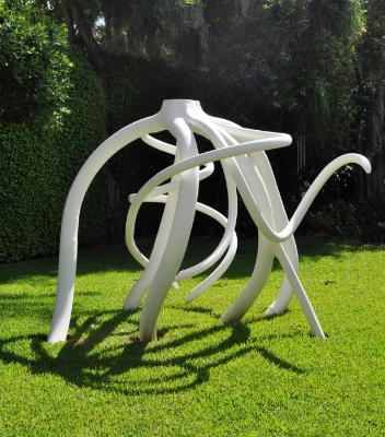 """""""white rainbow root""""   Sculptor Steve Tobin"""