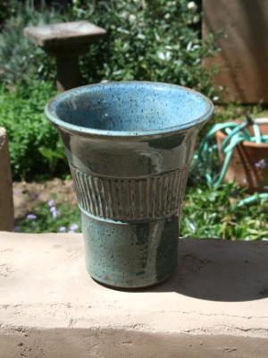 Strirated Jar