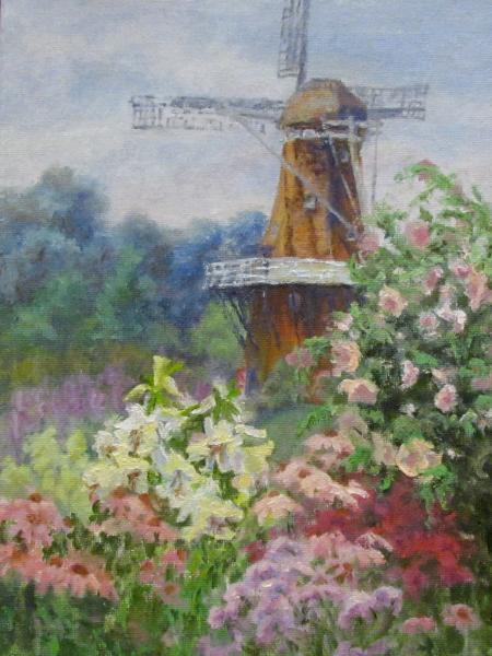 Making Flowers at Windmill Island, Holland MI