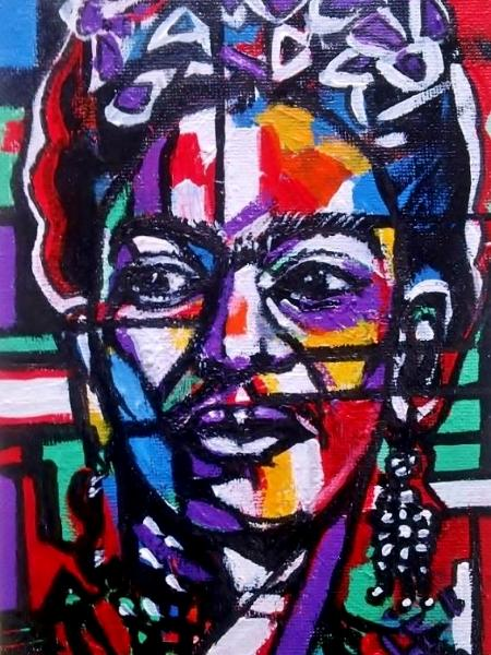 Painting 8 of 10 Fun Frida Commissions