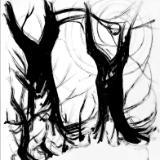 Contemporary European Hakubyou 白描 or Hakuga 白画 or White drawing