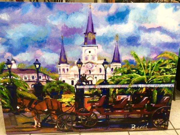 Carriage Ride and cathedral