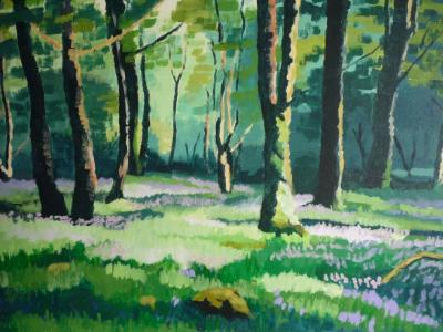 Exmoor bluebell wood (banks of the Barle)
