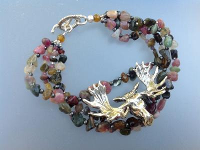 Moose beaded bracelet