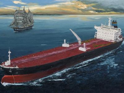 """Ecuadorian oil carrier """"Chimborazo"""", 120cm x 60cm, 2013"""