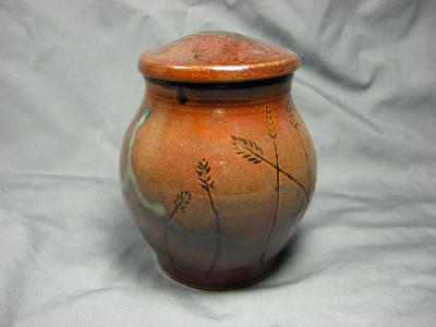 101122.B Wheat Design Jar with Lid