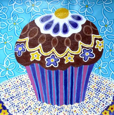 Chocolate Floral Cupcake