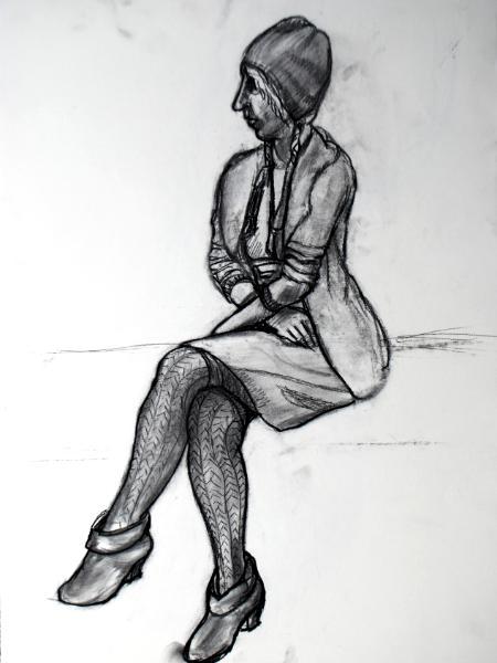Jennie, Seated, Clothed Figure