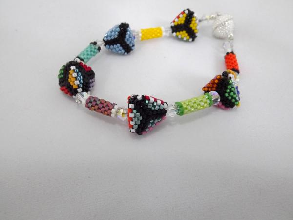 B-54 multi-colored pyramids bracelet