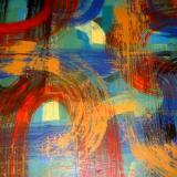 """So Fast"" 20""x 24 Acrylic on canvas"