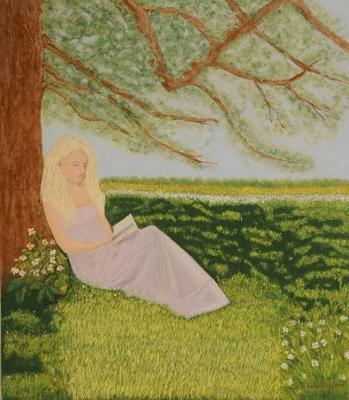 Girl In the Lavender Dress 29x31