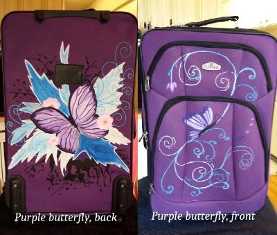 Purple butterfly 3 piece set