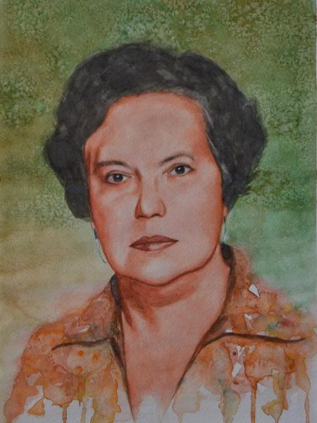 Portrait of an Ecuadorian woman, 30cm x 40cm, 2016