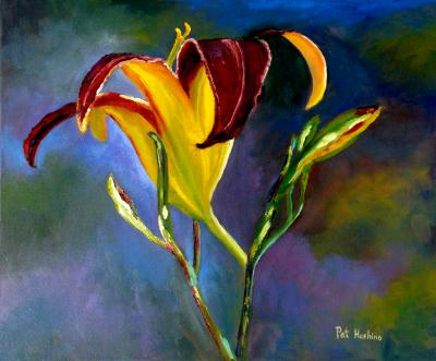 Yellow & Crimson Lily