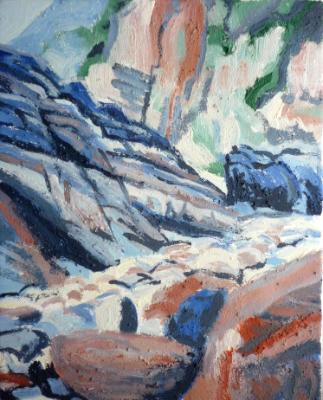 Woody Bay in earth pigments 2