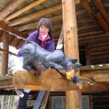 Railing Bear Cub