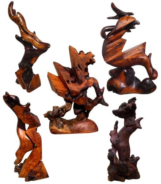 Stohans Showcase Modern Redwood Sculptures